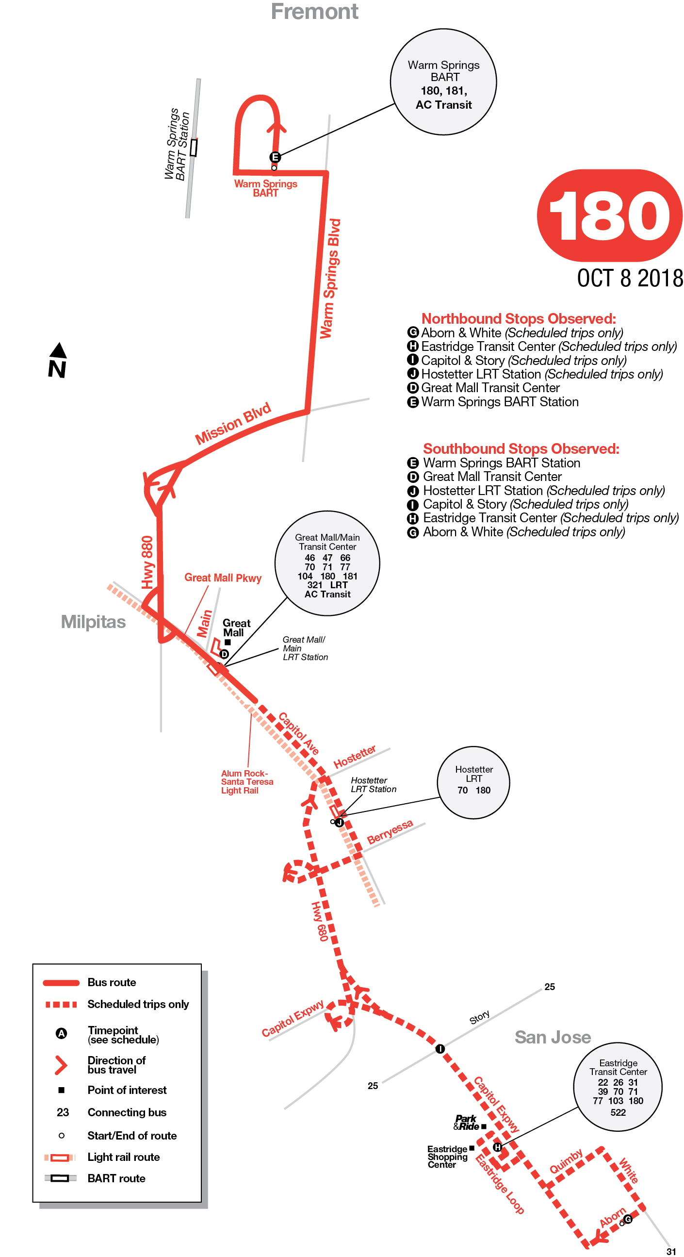 Route 180 Map