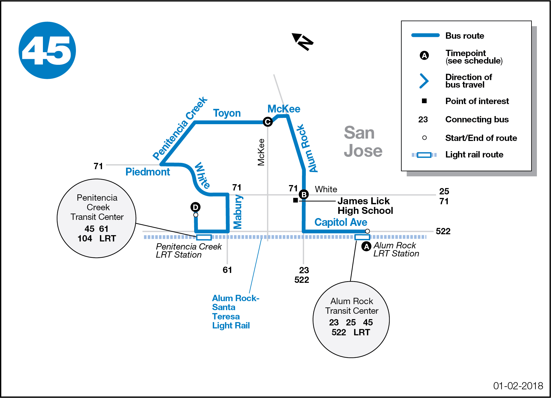 Route 45 Map