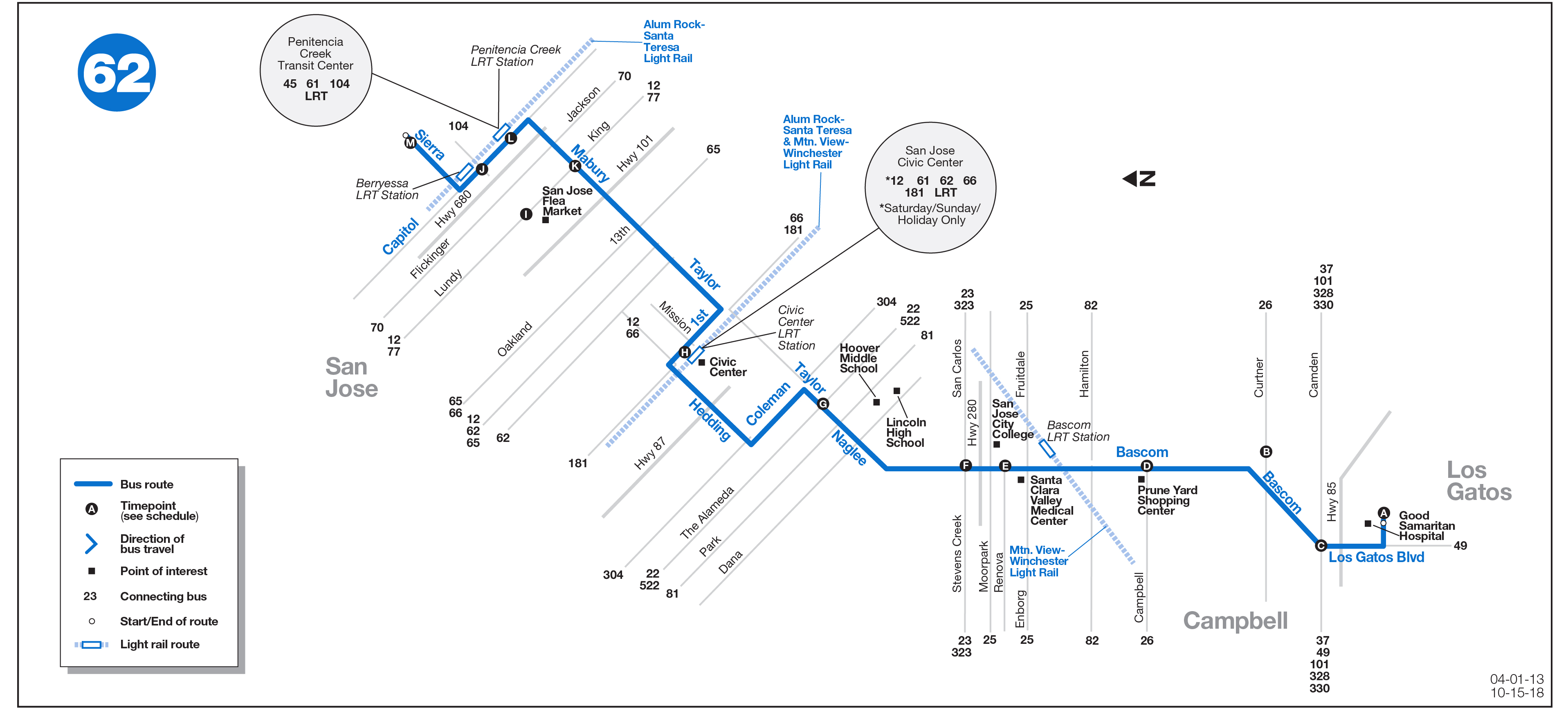 Route 62 Map