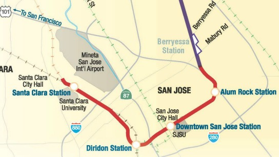 BART Phase 2 alignment map