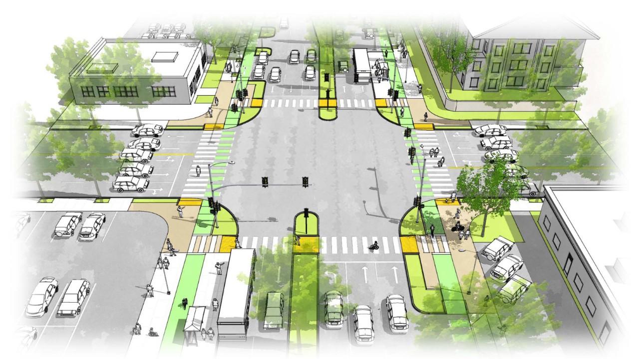 rendering of Bascom Complete Streets design