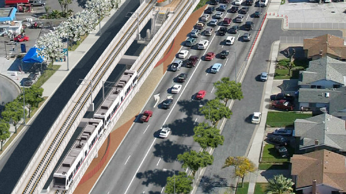 rendering of capitol expressway light rail project