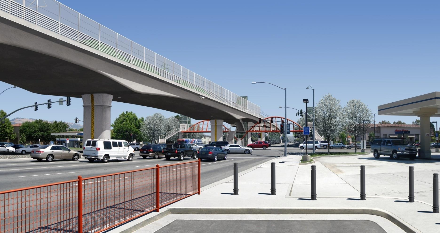 Capitol Expressway Light rail rendering