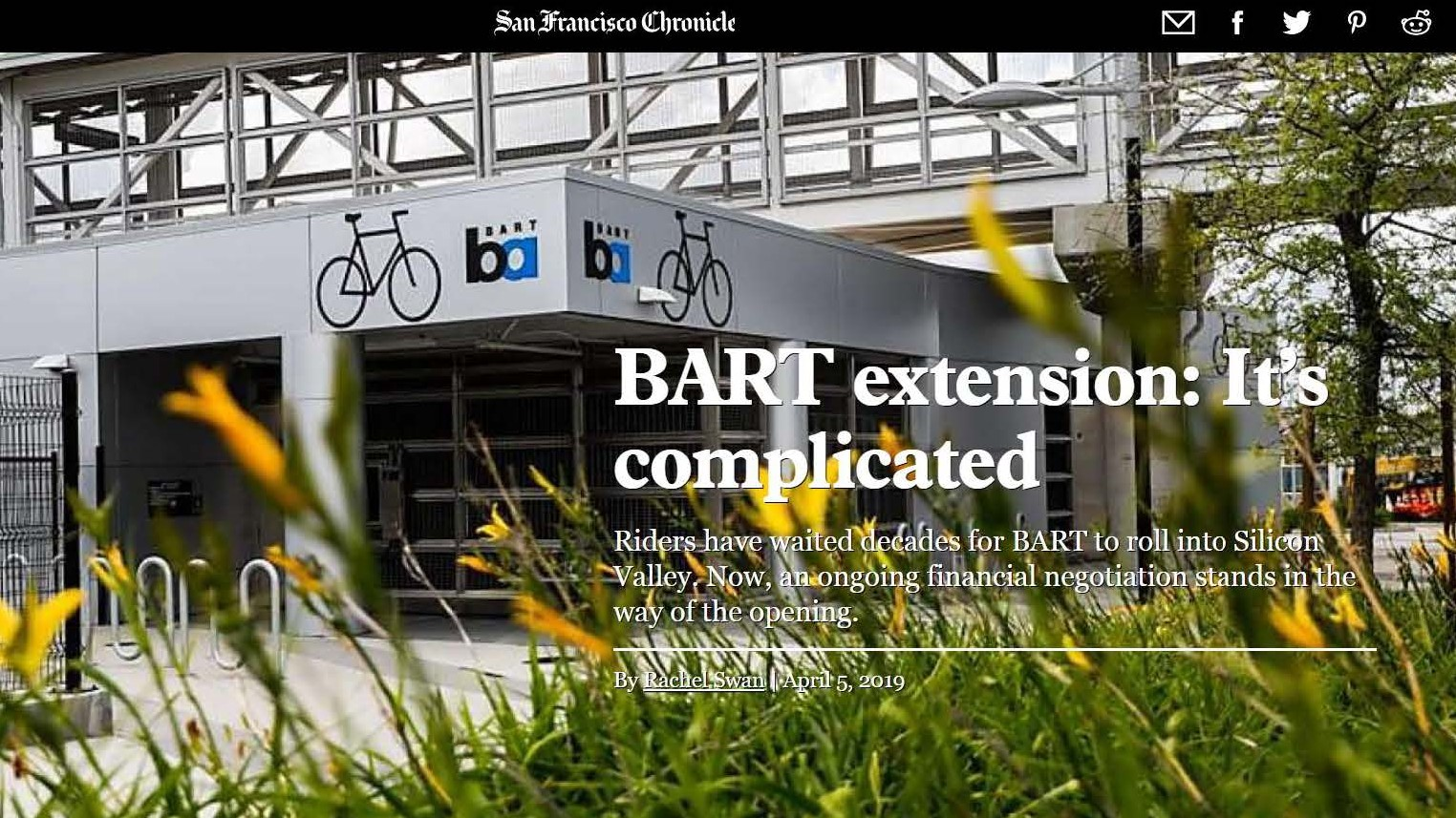 SF Chronicle cover photo of BART station