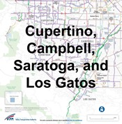Cupertino, Campbell,Saratoga Bike map