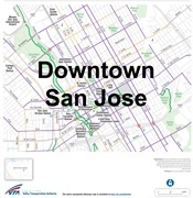 Downtown San Jose Bike Map