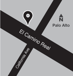 Map of bus stop on El Camino Real near California Avenue