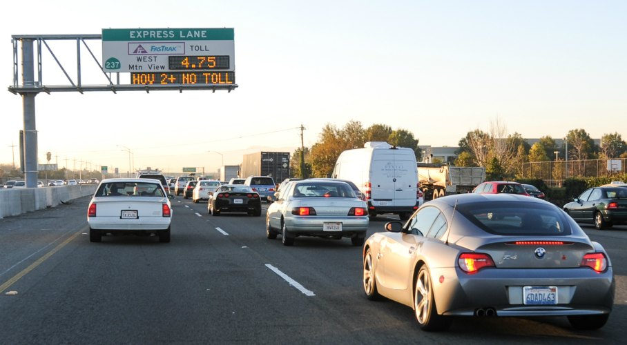 How to Use Silicon Valley Express Lanes Carpool Lane Map Bay Area on