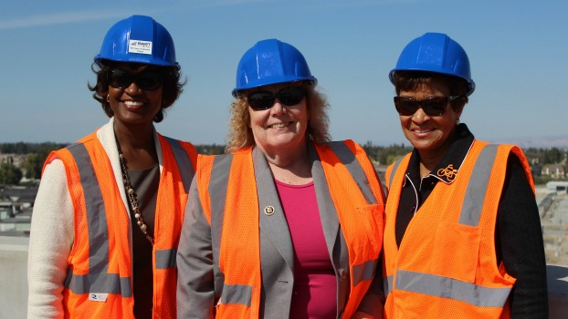 Nuria Fernandez, Zoe Lofgren and Carolyn Flowers on VTA BART Tour