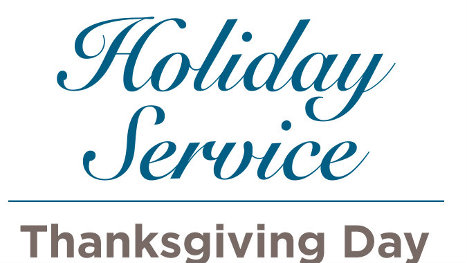 holiday service, thanksgiving