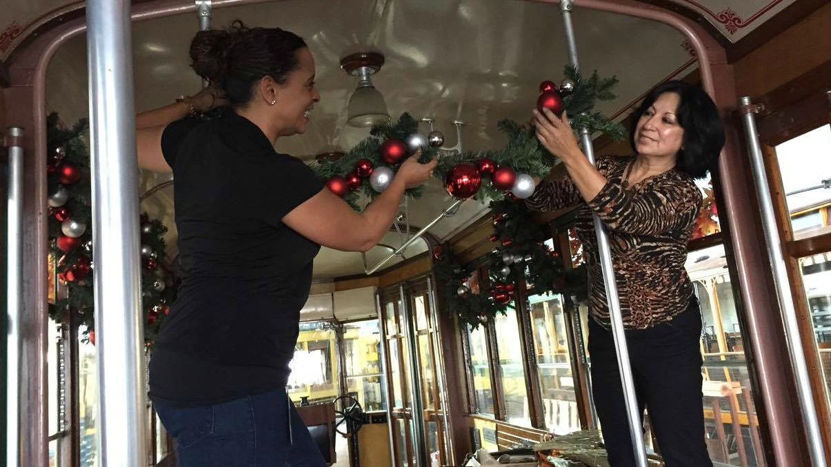 decorating Holiday Trolley