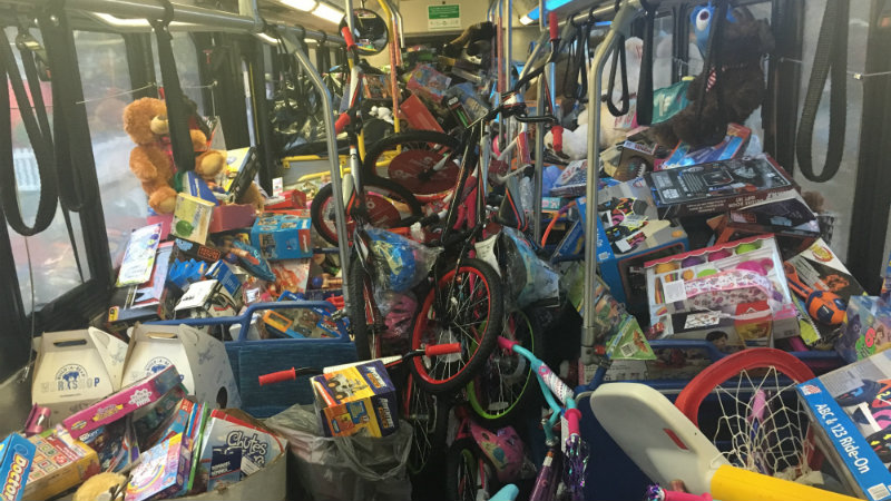 bus filled with toys