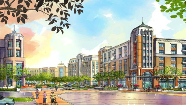 Rendering of the District at Milpitas development proposal by Integral Properties, courtesy of the City of Milpitas