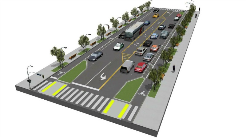 Goodyear Street/Keyes Street, Streetscape and Pedestrian Priority Opiton