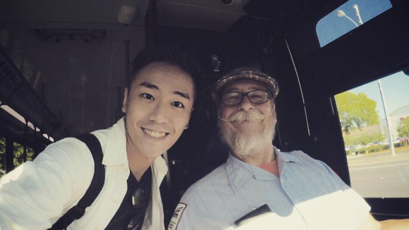 Customer selfie with driver Robert Kiesser