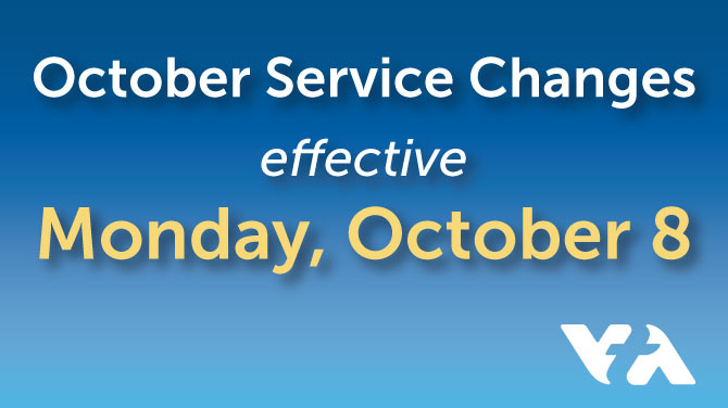 October 2018 VTA Service Changes