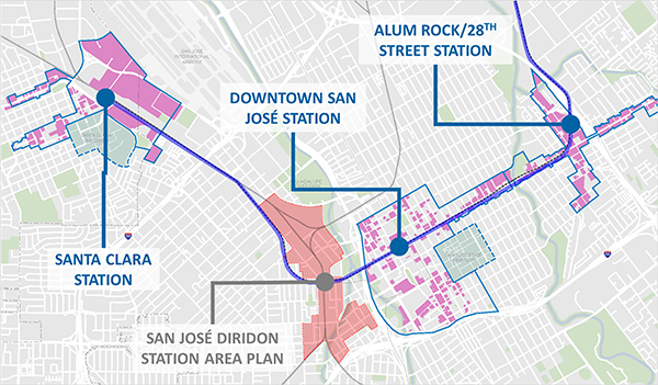 Opportunity Sites and Diridon image map