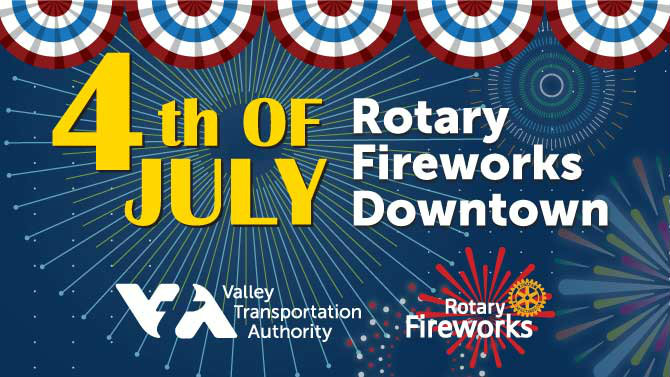 Rotary fireworks graphic