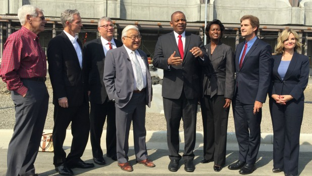 Transportation Secretary Foxx and other influential leaders tour BART project