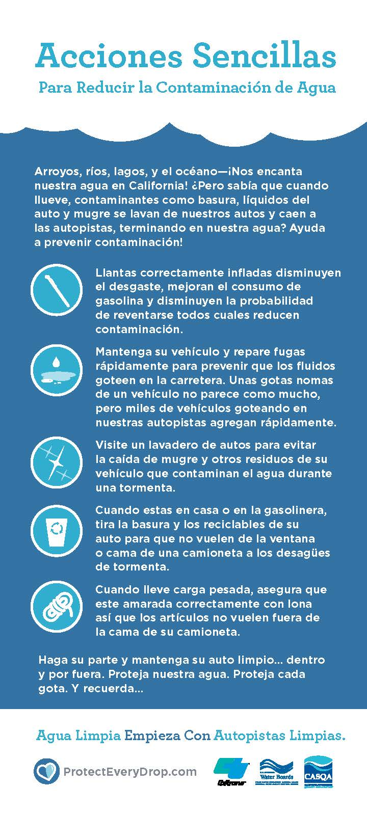 Image of Stormwater tips in Spanish