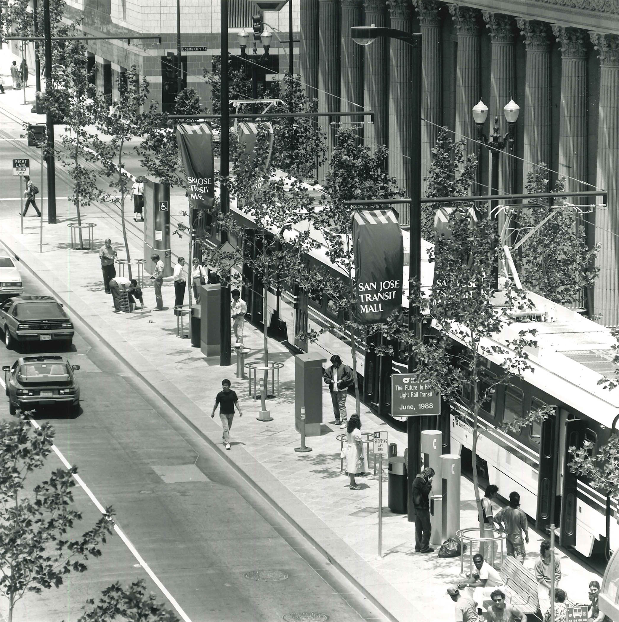 downtown San Jose transit mall in 1988