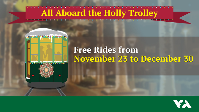 free rides on Holly Trolley