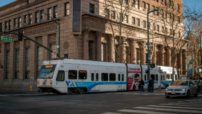 VTA Light Rail Downtown San Jose