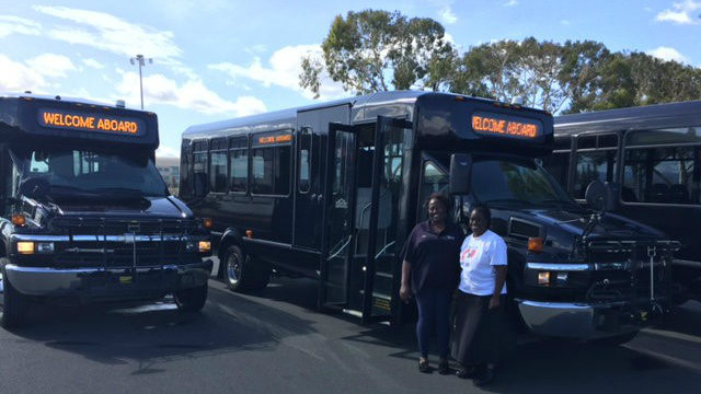 community buses donated to Veterans Facility