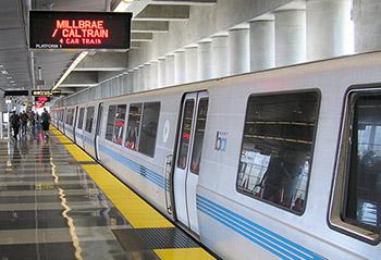 photo of BART train at station