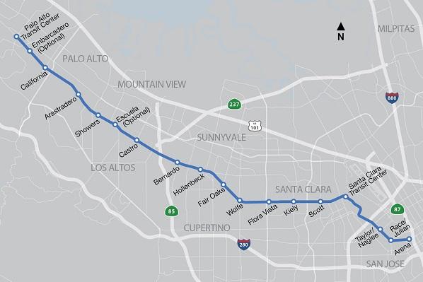 El Camino Real Bus Rapid Transit Corridor
