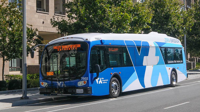 VTA electric bus
