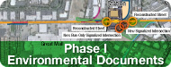 image button of map of project area with graphics overlaid on top of it. Click here to link to the Environmental Compliance page.