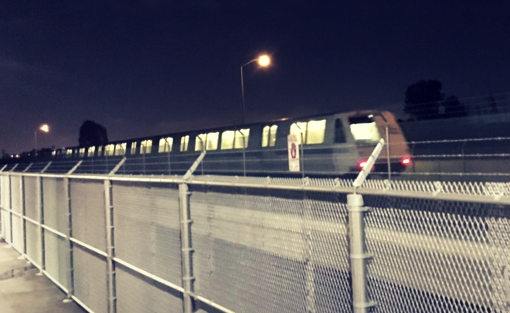 BART train in Silicon Valley
