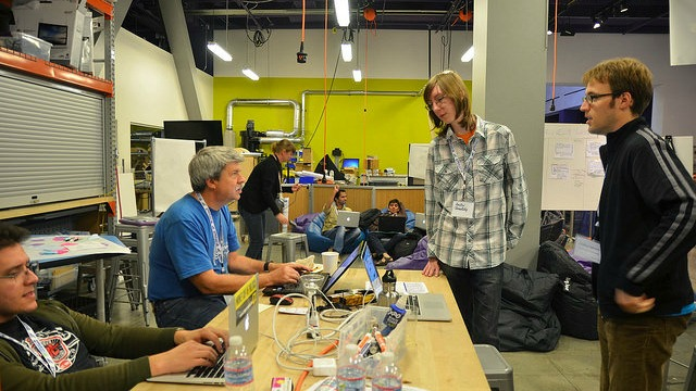 Group participating in Hack My Ride hackathon Oct 2014