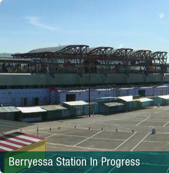 Image of Berryessa Station in progress