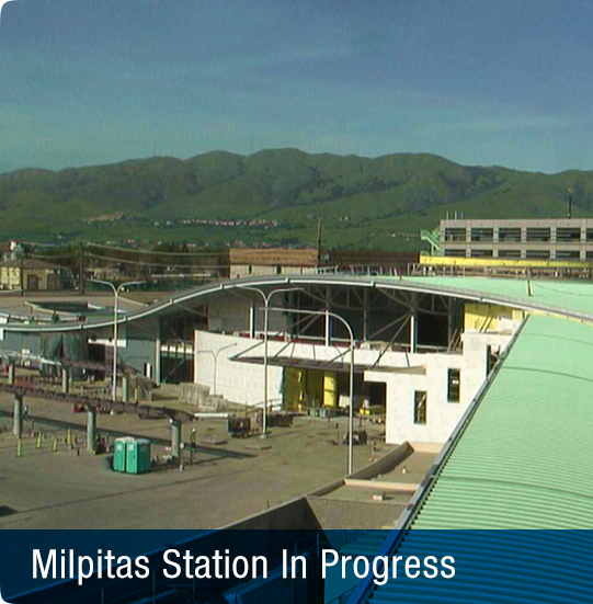 Image of Milpitas Station in progress