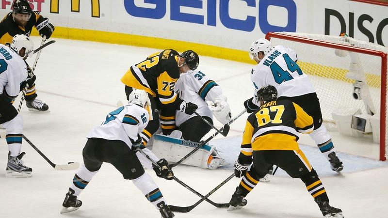 Sharks and Penguins hockey