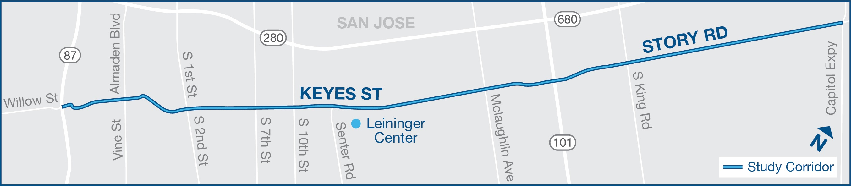 Story-Keyes Complete Street Study, Map