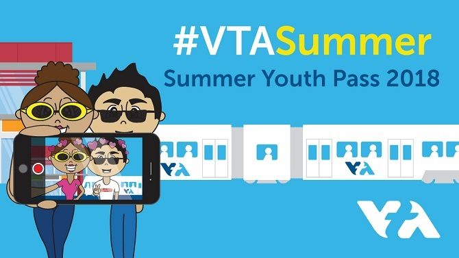 #VTASummer youth pass graphic