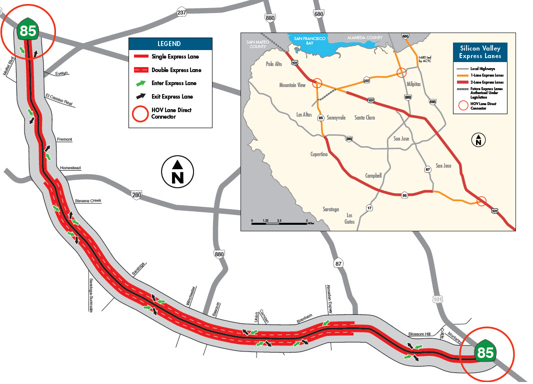 State Route  And US  Express Lanes Projects - Map of route 40 in us