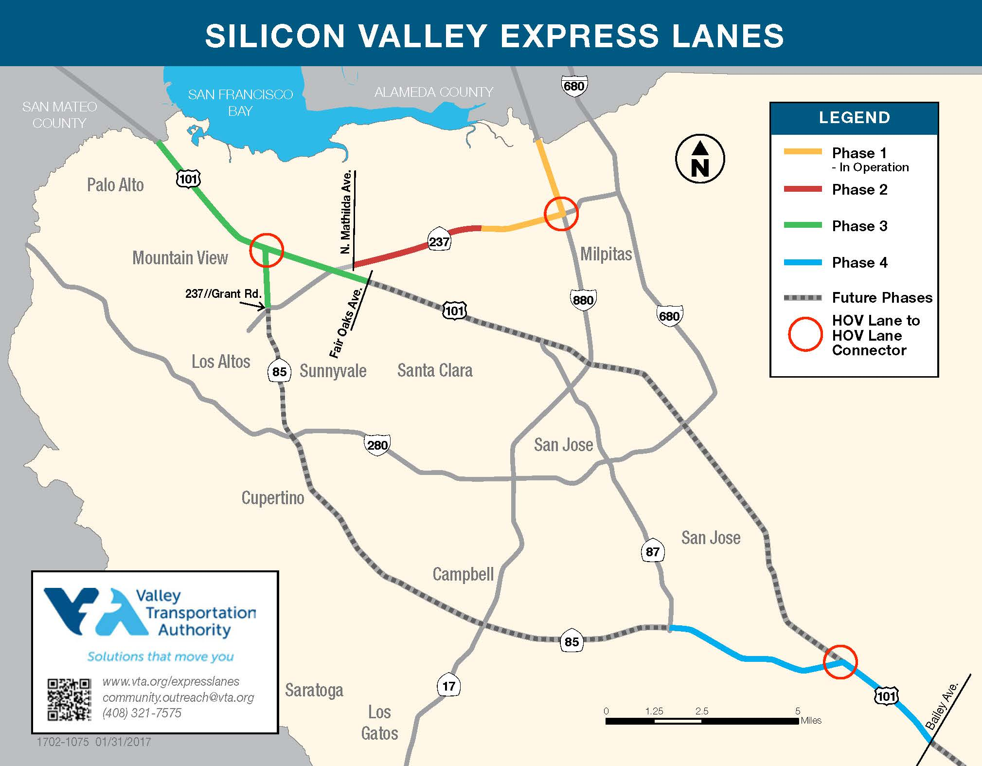map of Express Lanes present and future