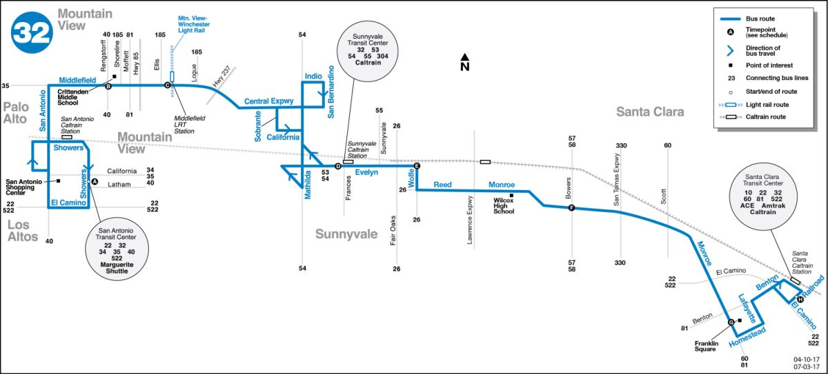 Route 32 Map