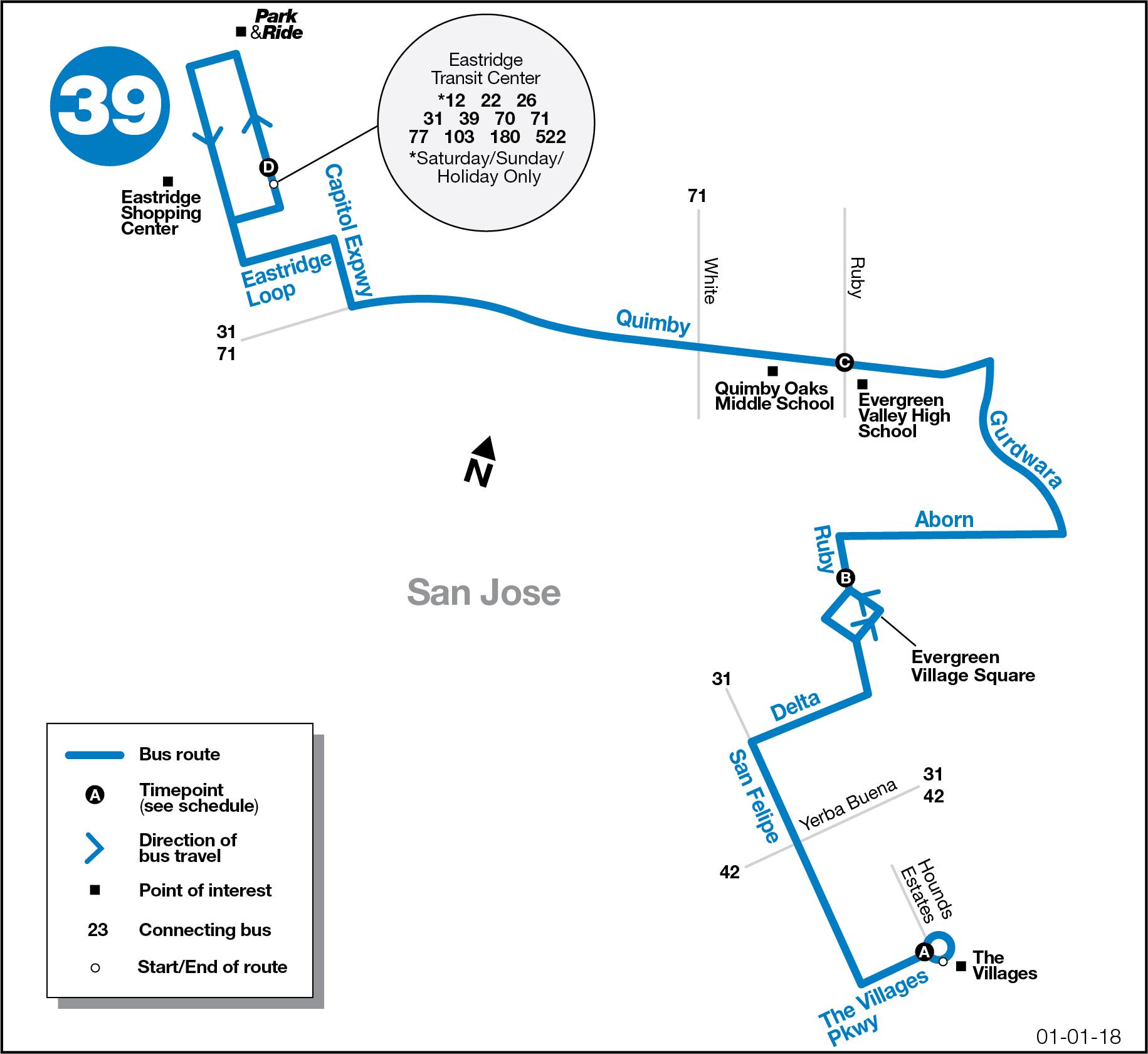 39 The Villages to Eastridge Transit Center