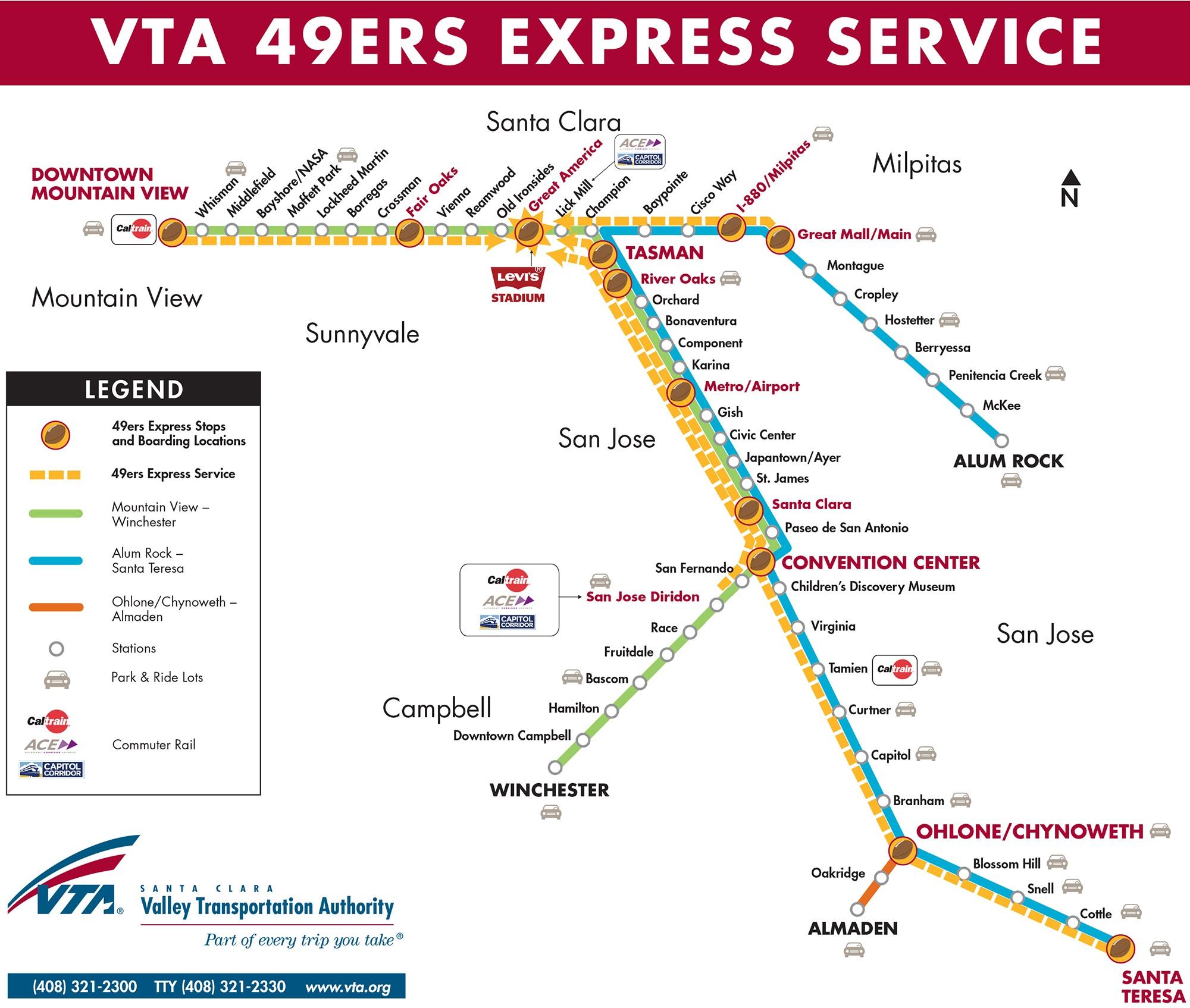 Light Rail Schedule Vta