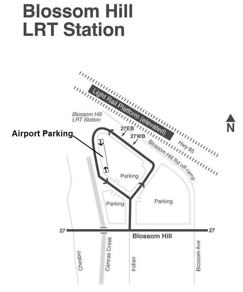 Park and Ride Lots (Blossom Hill Light Rail Station)
