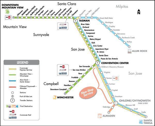 902 Streetcar Route Vta Sf Bay Transit
